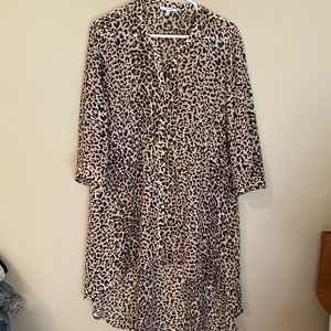 Maurices leopard tunic top size xl